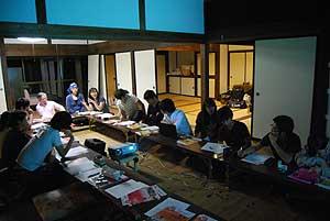 2010年秋 中央大学細野グループとの意見交換会。第1日目