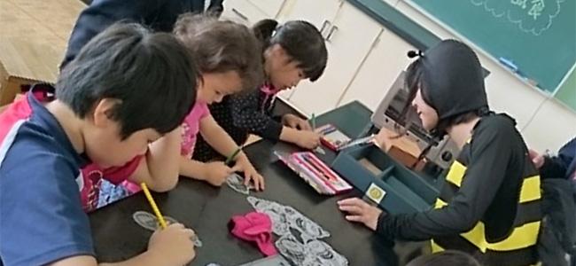 富士見高校養蜂部のミツバチ教室・ひまわり交流会 レポート (2016年5月28日開催)