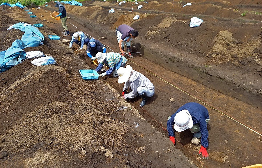 【現地説明会開催】井戸尻で発掘作業が進められています